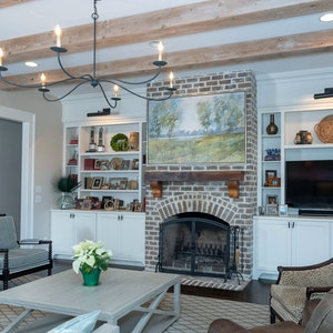 Exposed Beams Living Room