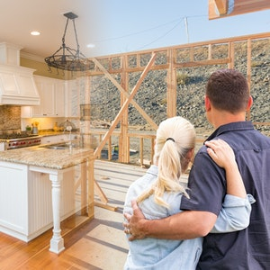 Young-couple-facing-new-kitchen-with-gradiant-from-framed-to-finished
