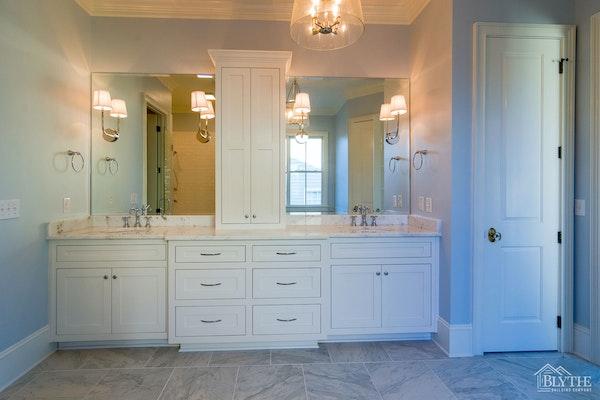 Dual Marble Vanity Luxury Master Bath Home Builder Sc