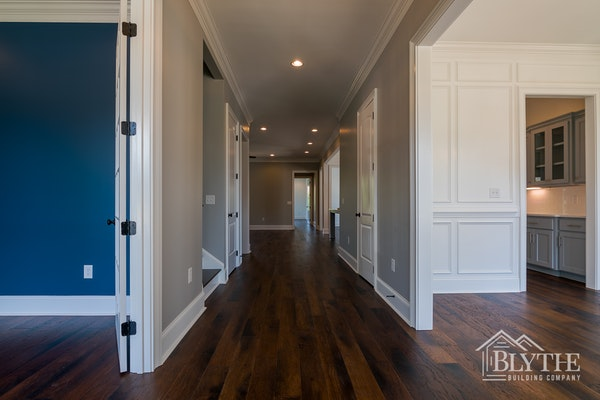 View Down Long Hallway Of Craftsman Home 3