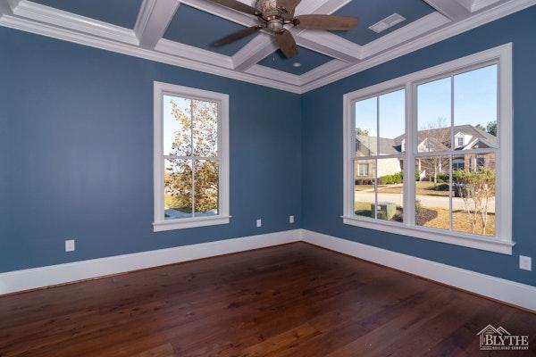 Blue Master Bedroom Hardwoods Tray Ceilings Home Builder Sc