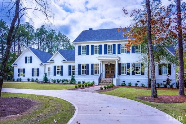 Large Modern Brick House Circular Drive Home Builder Sc
