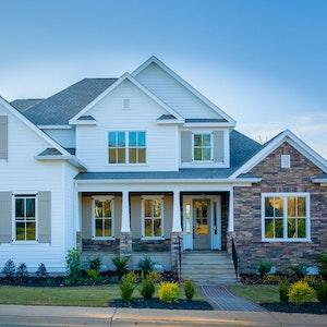 Multi Gabled House Craftsman Tapered Columns Home Builder Sc