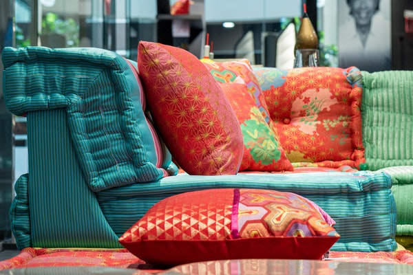 Maximalist design with bright, saturated colors and fun patterns