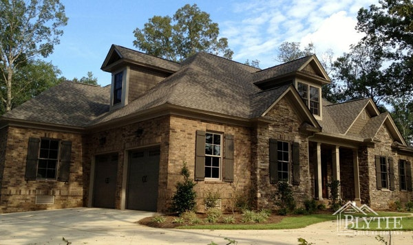 Stone And Brick House Dormers Home Builder Sc