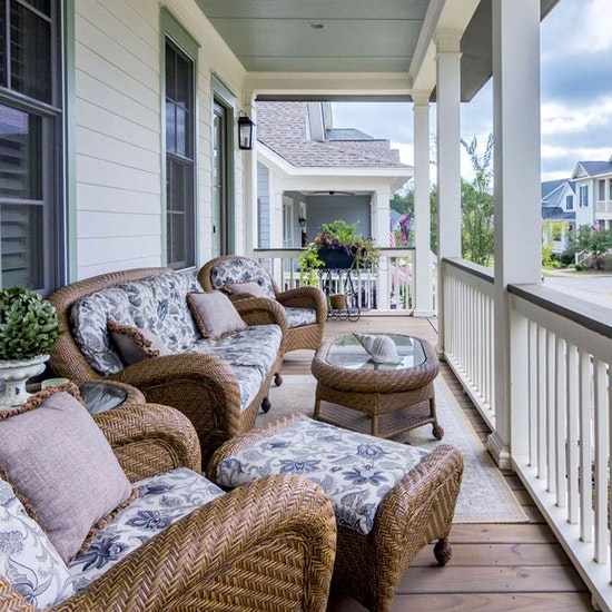Beautiful Southern Front Porch Home Builder Sc