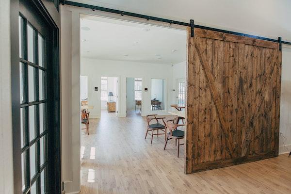 sliding reclaimed barn wood door