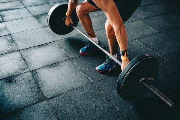 Home gym flooring - black rubber tiles