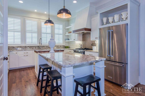 Granite Kitchen Island Counters Shiplap Home Builder Sc