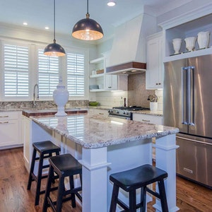 Granite Kitchen Island Counters Shiplap Home Builder Sc