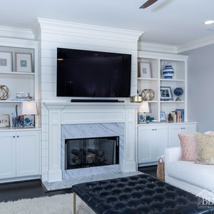 Shiplap over the fireplace - shiplap image