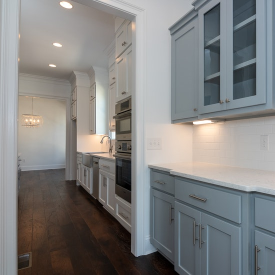 Butlers pantry ideas - gray butler's pantry cabinets