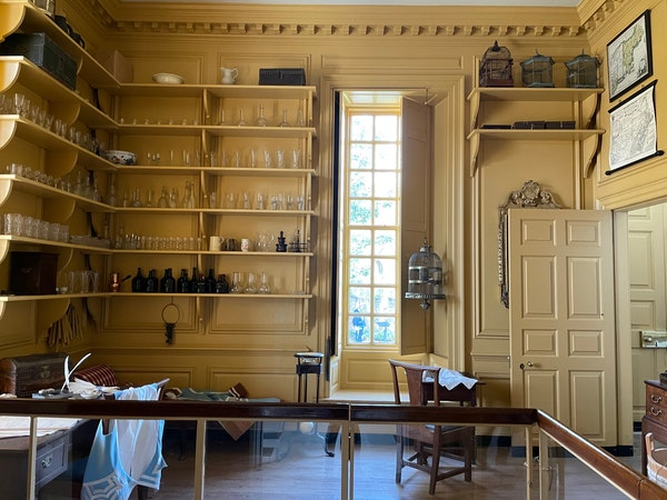 The Butler's Pantry at the Governor's Palace in Colonial Williamsburg, VA